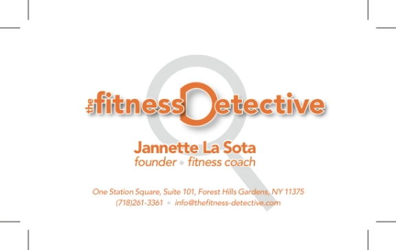 Fitness Detective business card 2013 FRONT