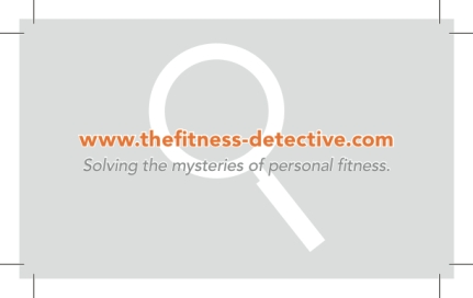 Fitness Detective business card 2013 REVERSE