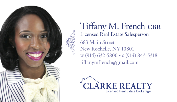 Clarke Realty Business Card Tiffany French REVERSE