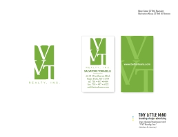 VVT Realty logo|business card B