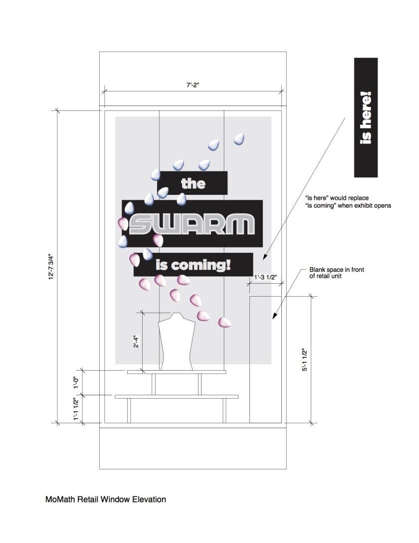 Robot Swarm Retail Window Elev