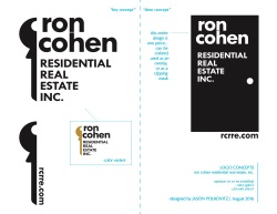 ron cohen real estate logo concepts