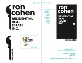 ron cohen real estate logo concepts